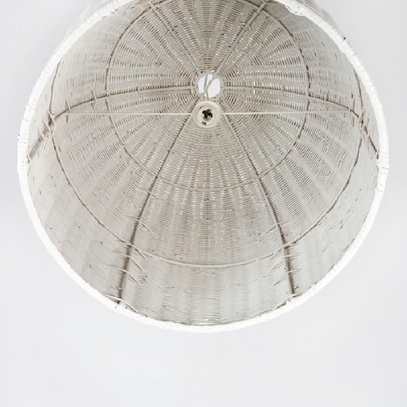 Hanging Lamp 60X60 Wicker White - image 53749