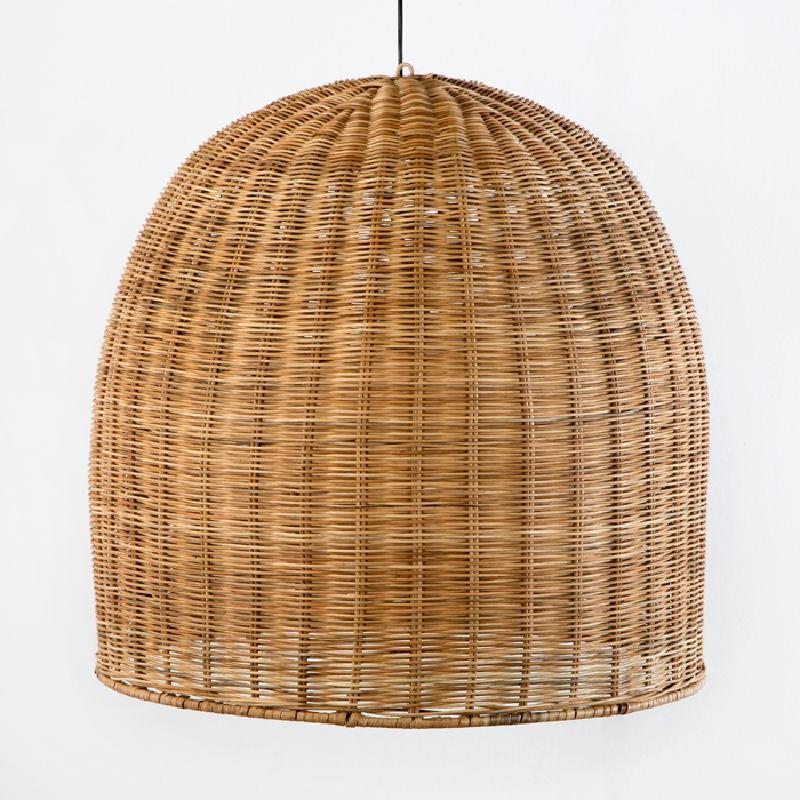 Lámpara Colgante 60X60 Mimbre Natural