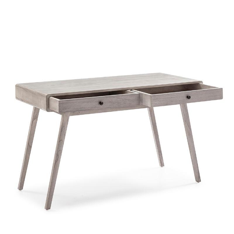 Schreibtisch 120X55X76 Verschleiertes Graues Holz - image 53764