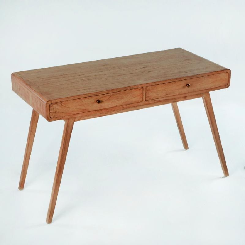 Schreibtisch 120X55X76 Braunes Holz