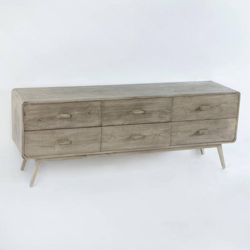 Sideboard 200X50X75 Gebleichtes Graues Holz - image 53782