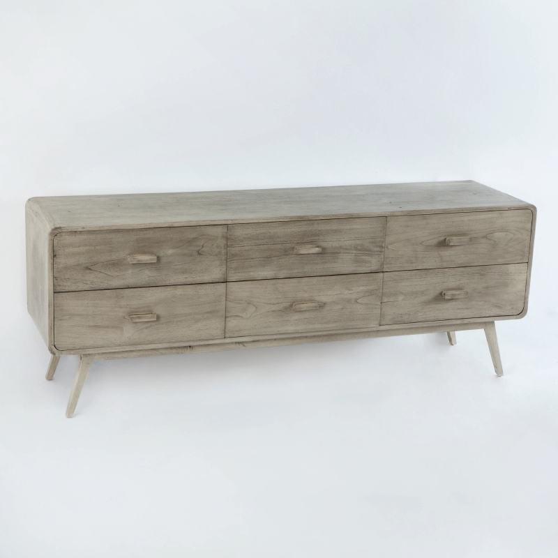 Sideboard 200X50X75 Wood Grey Veiled - image 53782