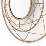 Mirror 78X8X78 Metal Golden
