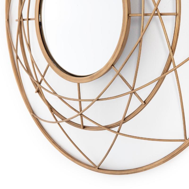 Mirror 78X8X78 Metal Golden - image 53795