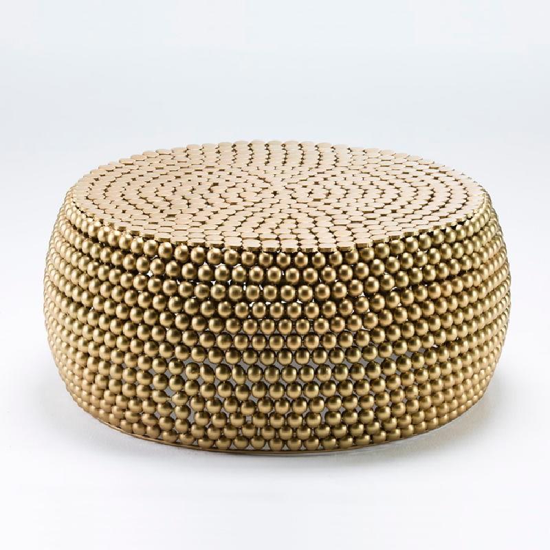 Coffee Table 81X34 Metal Golden