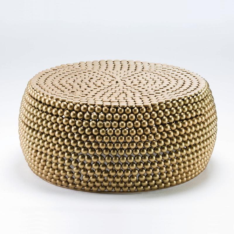 Coffee Table 81X34 Metal Golden - image 53805