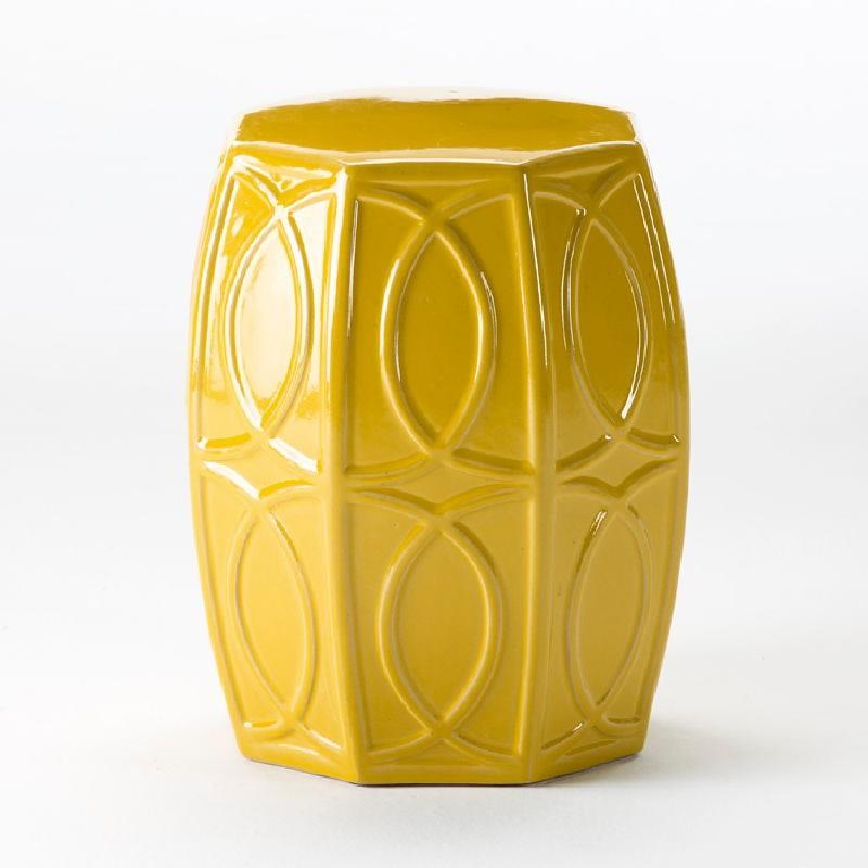 Stool 38X45 Ceramic Yellow
