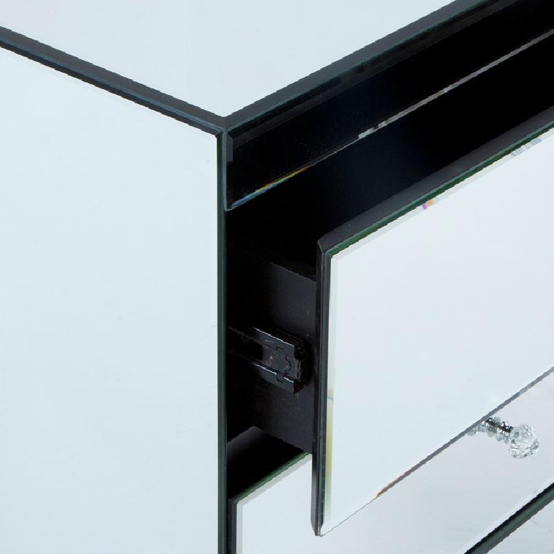 Nachttisch 3 Schubladen 60X40X70 Spiegel - image 53811