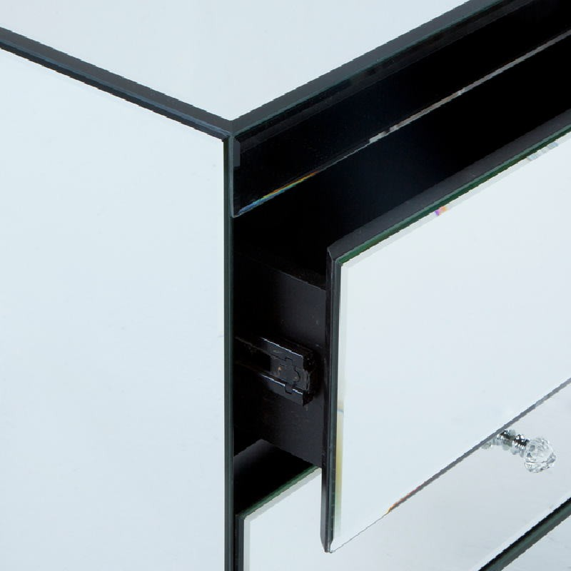 Table de chevet 3 tiroirs 60x40x70 Miroir   - image 53811