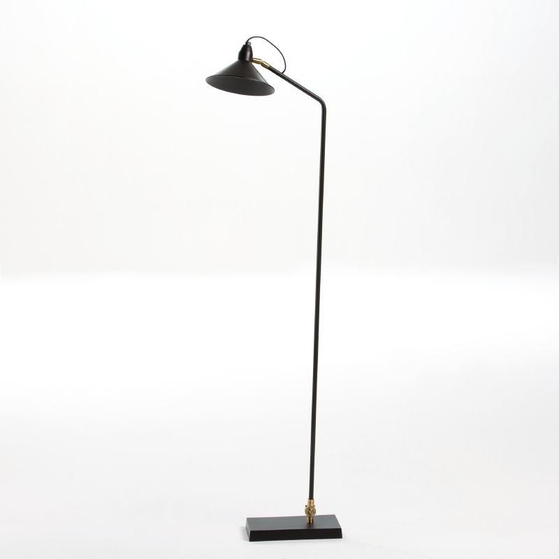 Lampadaire avec abat-jour 26x19x136 Métal Noir - image 53825