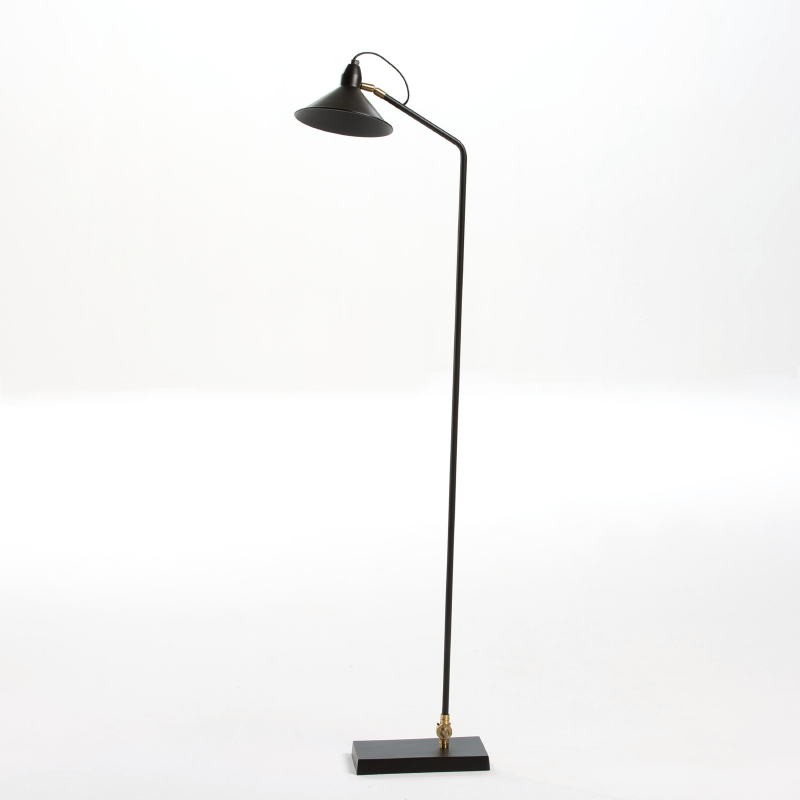 Standard Lamp With Lampshade 26X19X136 Metal Black - image 53825