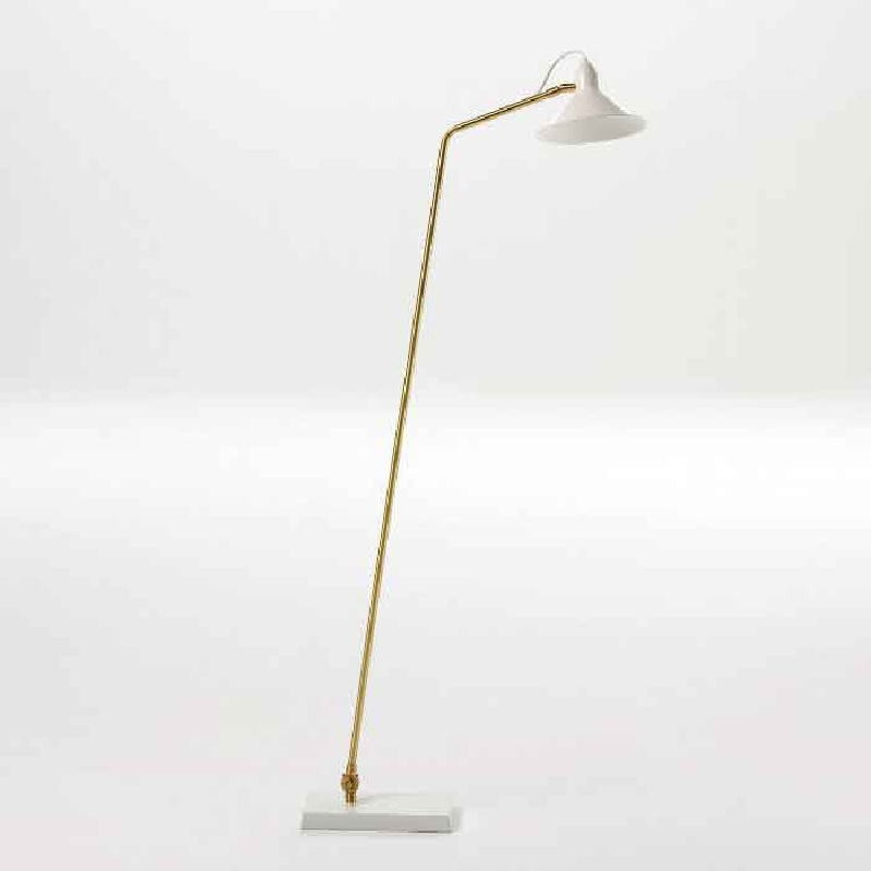 Standard Lamp With Lampshade 26X19X136 Metal White Bronze - image 53826