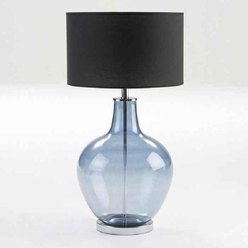 Lampe de Table sans abat-jour 34x57 Verre Bleu - image 53841