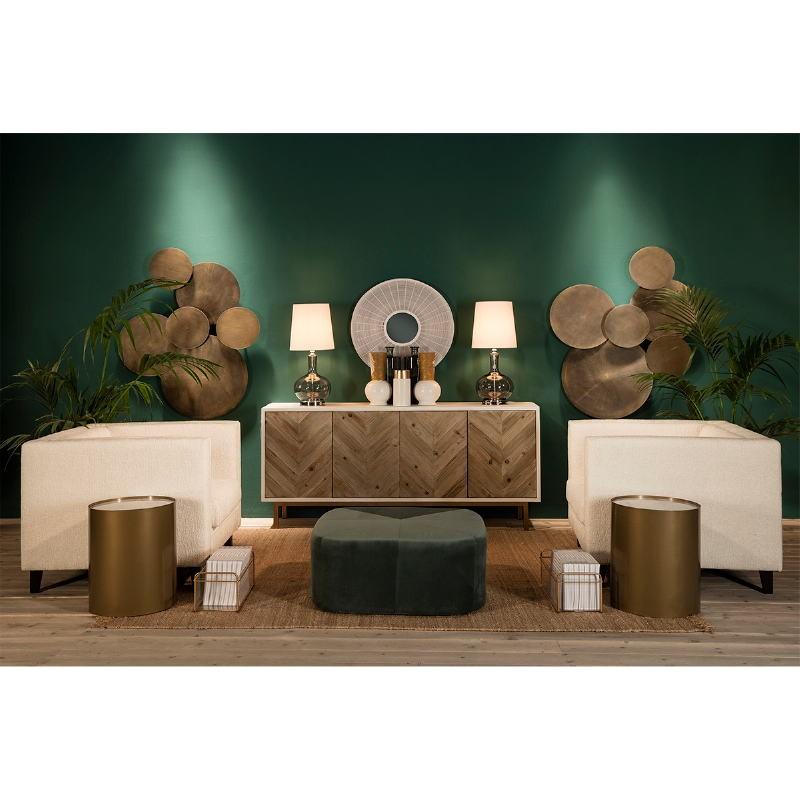 Lampe de Table sans abat-jour 25x45 Verre Fumé - image 53845