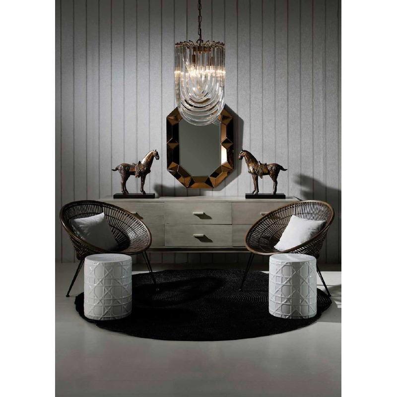 Buffet 160x50x75 Bois Gris blanchi - image 53849