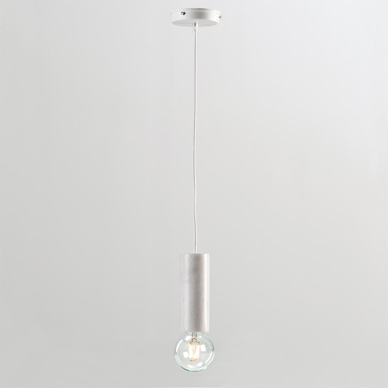 Hanging Lamp Without Lampshade 6X16 Marble White - image 53857