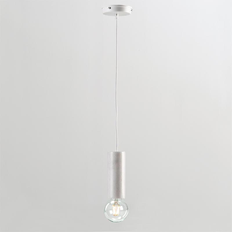Lampe suspendue sans abat-jour 6x16 Marbre Blanc - image 53857