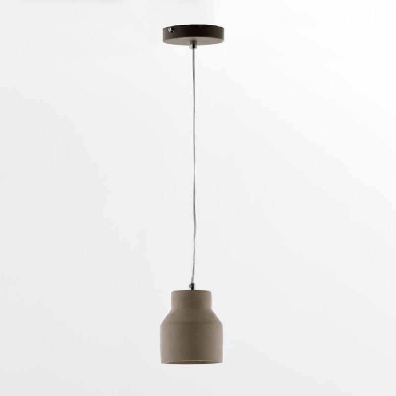 Lampe suspendue avec abat-jour 12x14 Ciment Gris