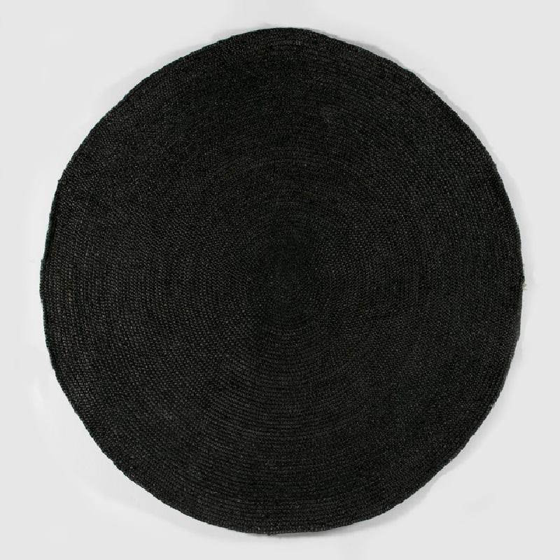 Tapis rond 200x1x200 Jute Noir - image 53874
