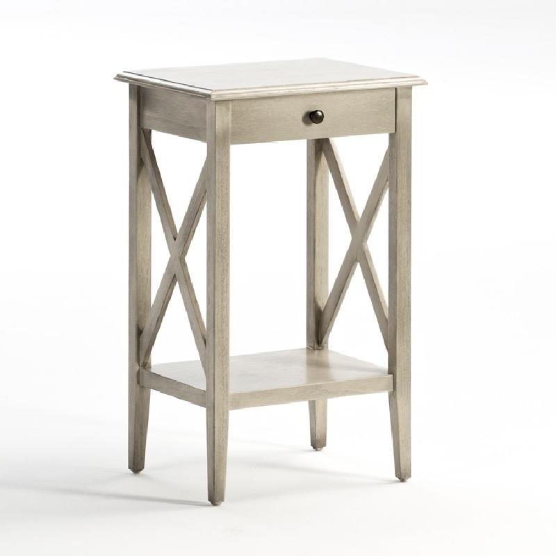 Nachttisch 42X35X70 Grau Gebleichtes Holz