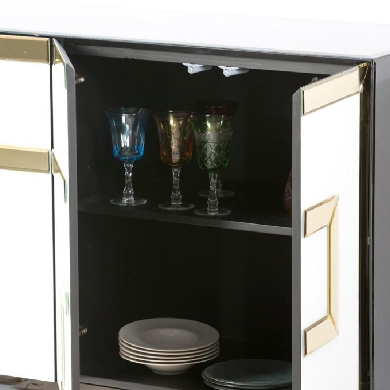 Sideboard 4 Doors 140X45X80 Glass Multicolour - image 53901