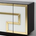 Sideboard 4 Doors 140X45X80 Glass Multicolour