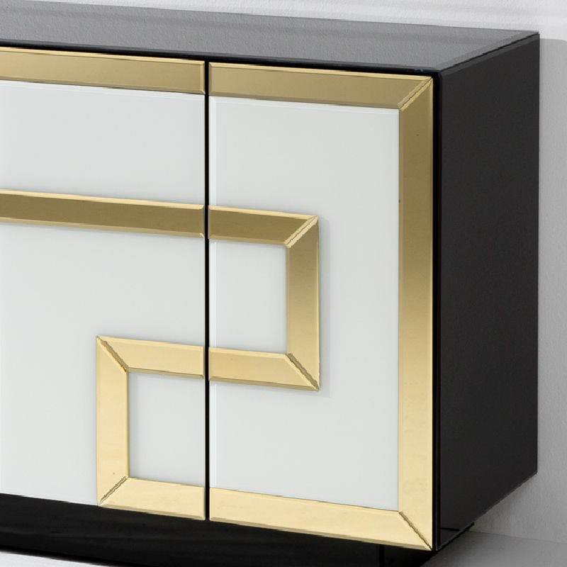 Aparador 4 Puertas 140X45X80 Cristal Multicolor Con 4 Puertas - image 53902