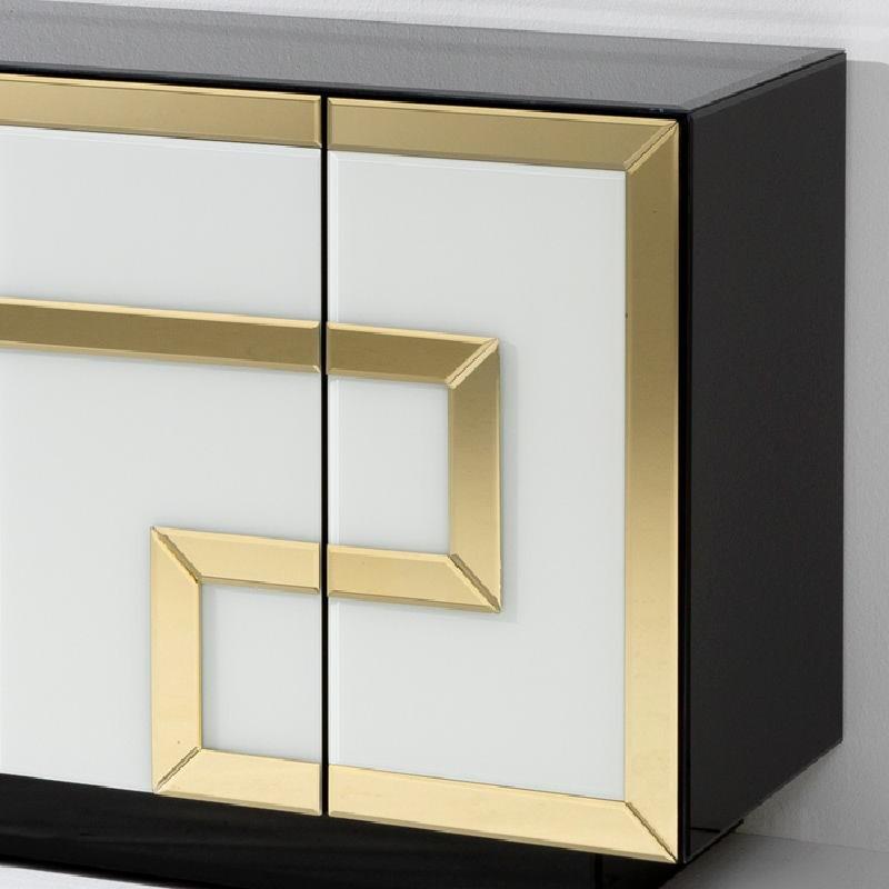 Sideboard 4 Doors 140X45X80 Glass Multicolour - image 53902