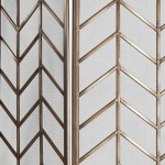 Folding Screen 129X1X178 Metal Golden