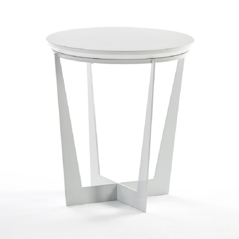Tavolo Ausiliare 50X50X55 Metallo Mdf Bianco - image 53918