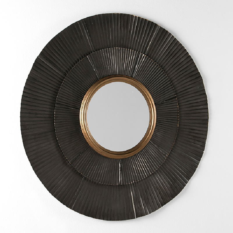 Mirror 105X3X105 Metal Brown Gold - image 53929