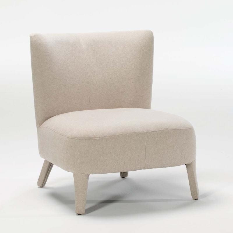 Armchair 76X79X86 Wood Fabric Beige