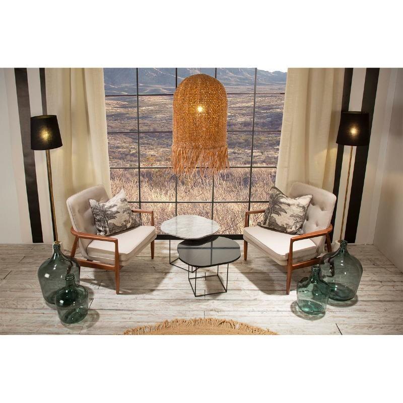 Armchair 82X73X83 Wood Brown Fabric Beige - image 53948