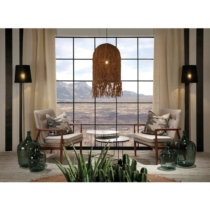 Armchair 82X73X83 Wood Brown Fabric Beige - image 53950