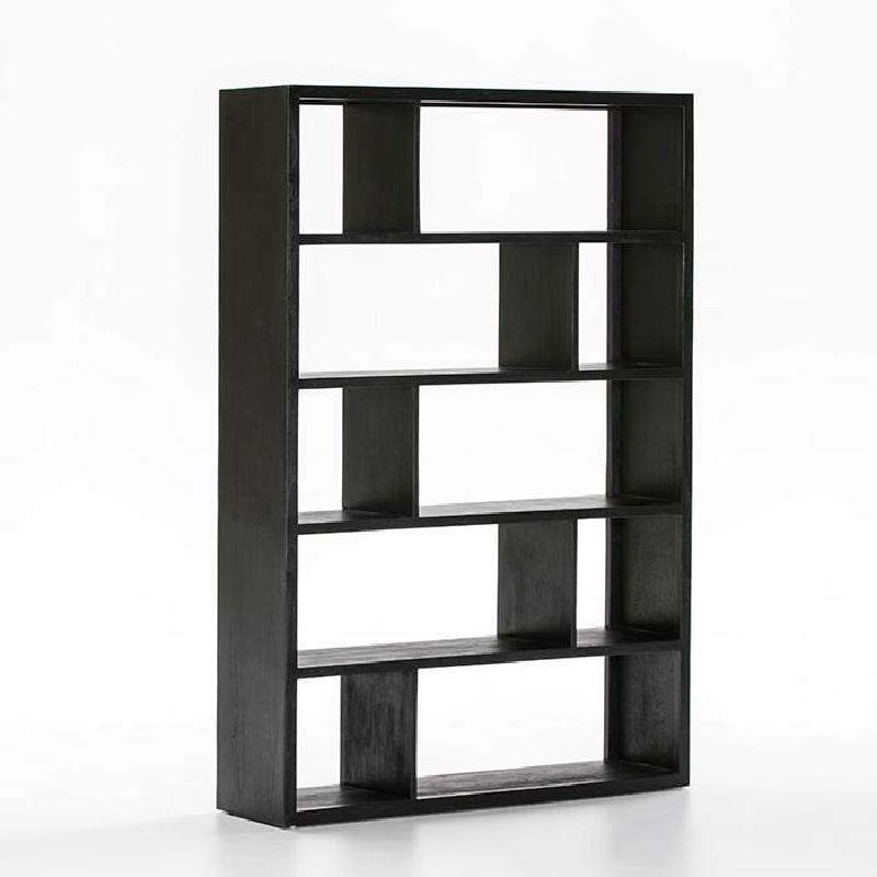 Shelf 120X34X180 Wood Black