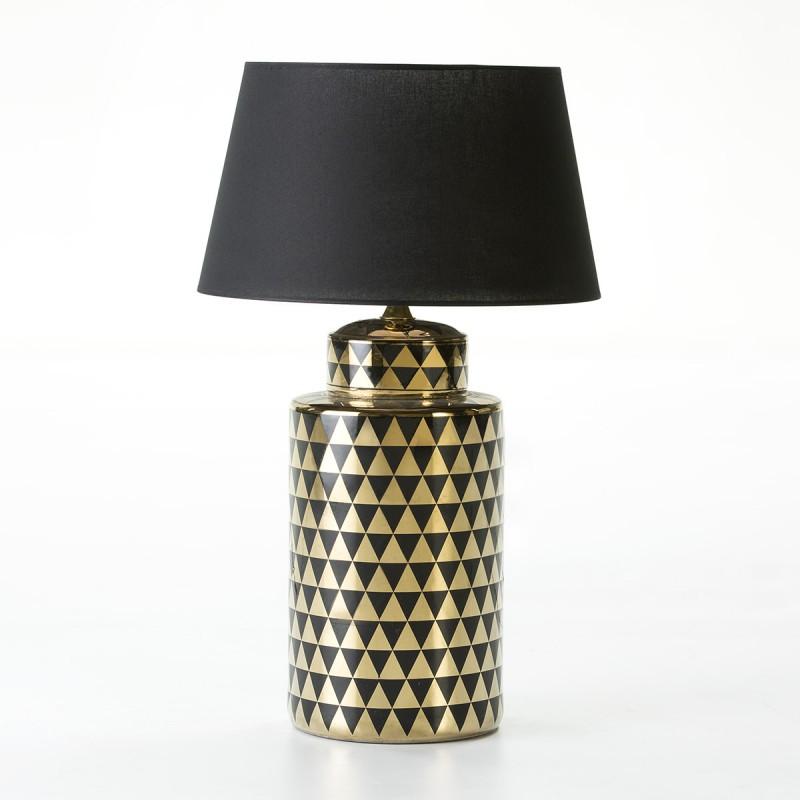 Lampe Auf Tisch Ohne Bildschirm 23X23X51 Keramik Golden/Schwarz