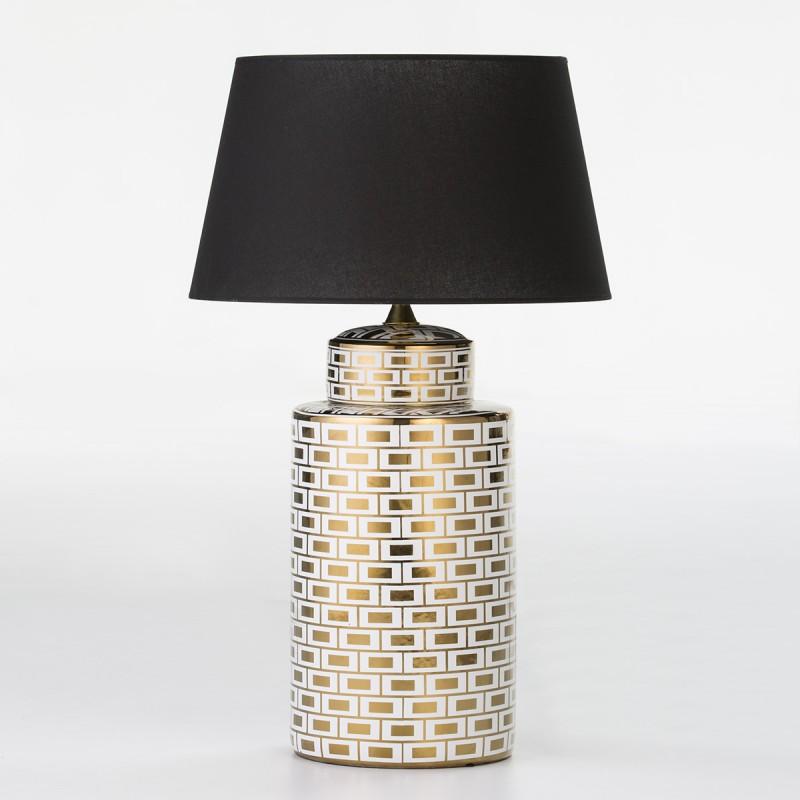 Lampe Auf Tisch Ohne Bildschirm 23X23X51 Keramik Weiß/Golden Modell 2