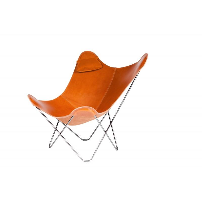Têtière amovible pour fauteuil en cuir italien BUTTERFLY (marron gold) - image 54008