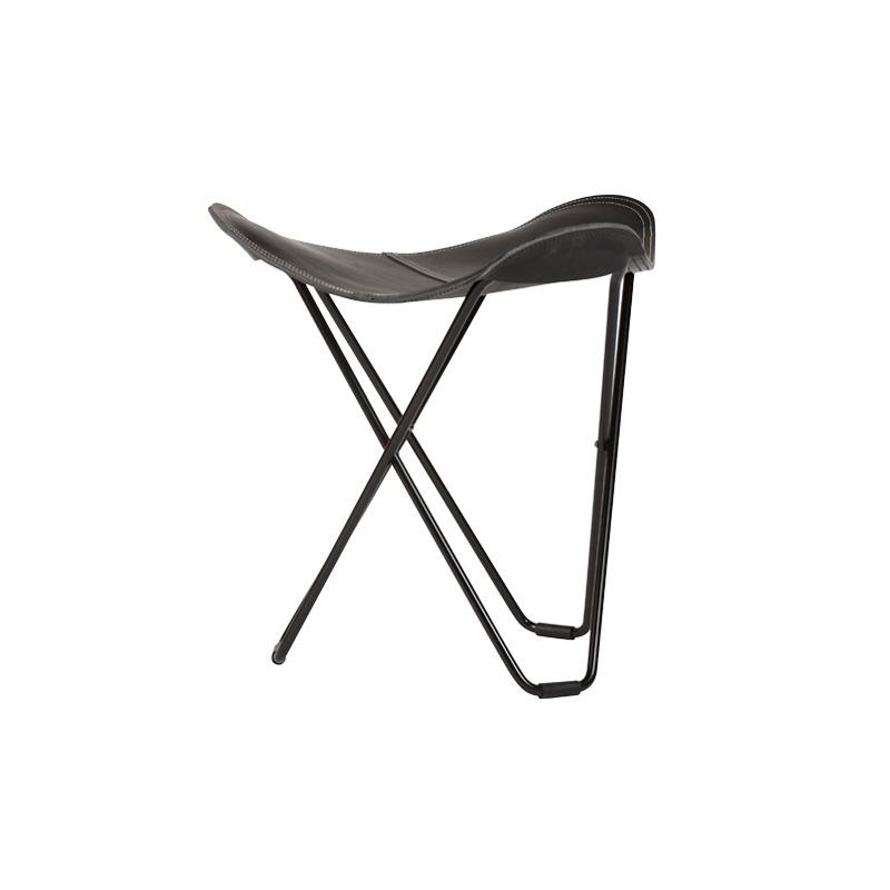 Repose pied en cuir italien FLYING GOOSE PAMPA pied métal noir (noir) - image 54039