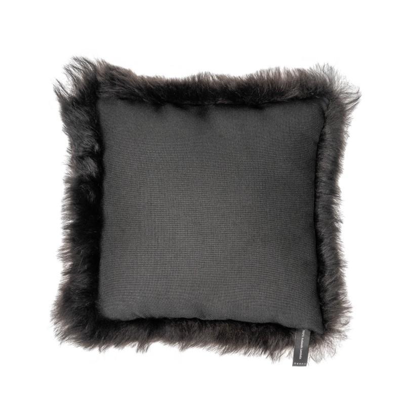 Coussin en peau de mouton, poils courts ICELAND (noir) - image 54266