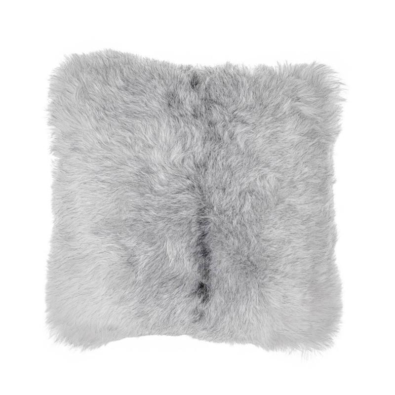 Coussin en peau de mouton, poils courts ICELAND (blanc, gris) - image 54273