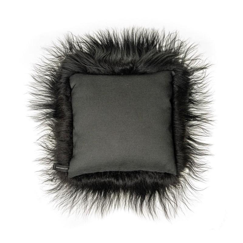 Coussin en peau de mouton, poils longs ICELAND (noir) - image 54278