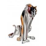 Statuette sculpture décorative design PANTHERE en résine H45 (multicolore)